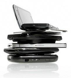 Pile of laptops