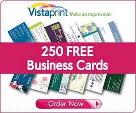 FREE 250 full colour business cards - VistaPrint